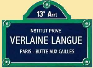Verlaine langue - Learn French in Paris - Mini-groups